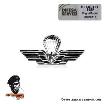 Brevetto militare da lancio  paracadutisti in metallo