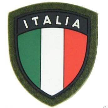 Patch Scudetto Omerale Bandiera italiana verde