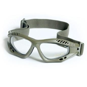 Occhiale protettivo da softair verde