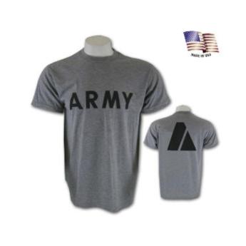 T -SHIRT DA ALLENAMENTO  US ARMY USMC GRIGIA