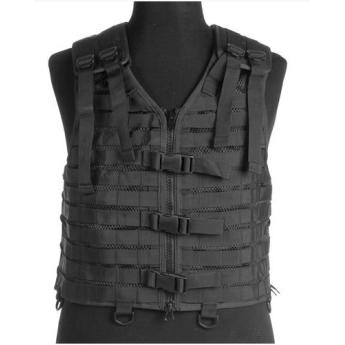 Gilet tattico tactical vest con sistema modulare nero