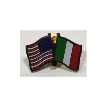 Spilla gemellaggio stati uniti con italia