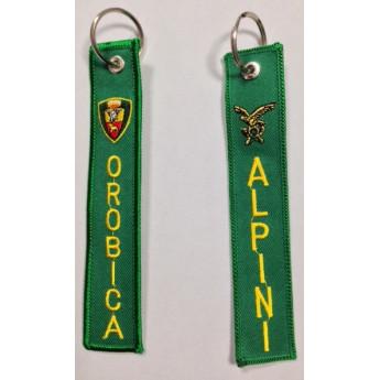 Portachiavi ricamato brigata alpina orobica