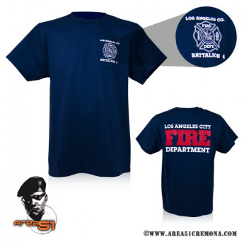 T-SHIRT  POMPIERI DEPARTMENT LOS ANGELES FIRE