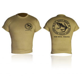 T-SHIRT  NAVY SEALS FROG DAM NECK VIRGINIA