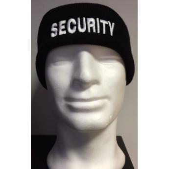 Cuffia di lana con scritta SECURITY