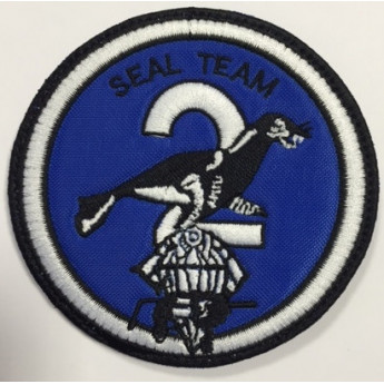 Patch ricamato navy seals team two anni 1970/80