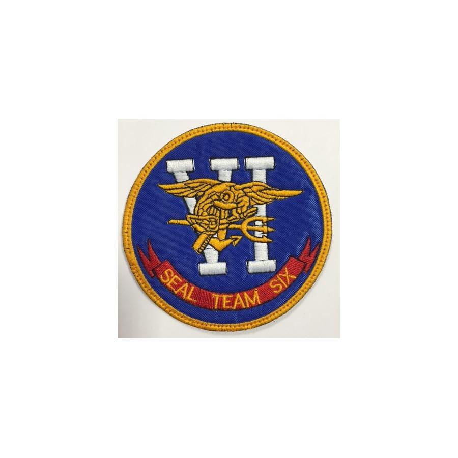 Patch ricamato  marina militare americana NAVY SEALS TEAM SIX