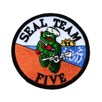 Patch ricamato  marina militare americana NAVY SEALS TEAM FIVE