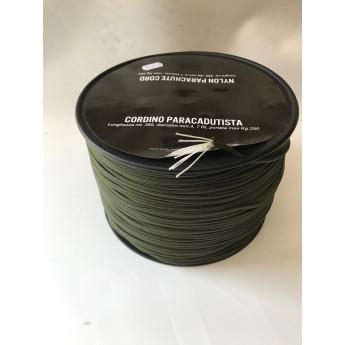 Cordino paracord da 4 mm vendita al metro lineare verde od