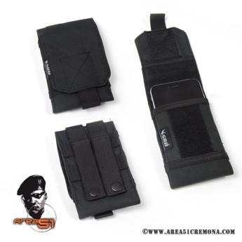 Porta Smartphone in cordura nero