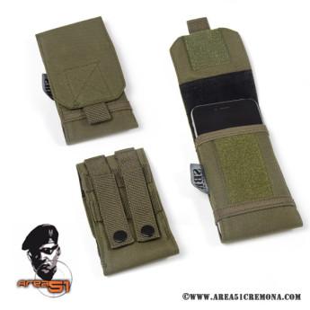 Porta smartphone in cordura Verde militare