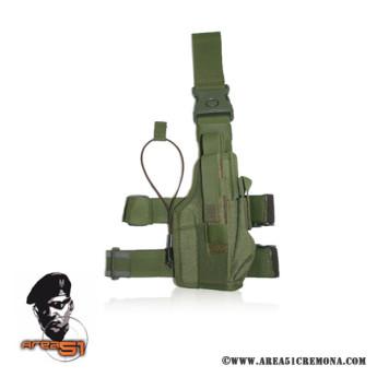 Cosciale per pistola tactical in cordura