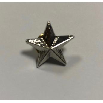 Stella militare in metallo argentata piccola