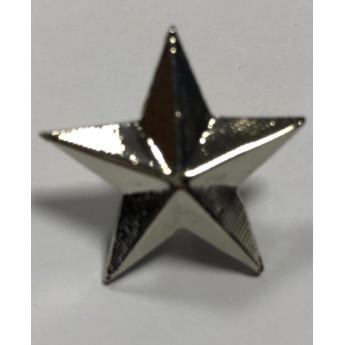 Stella militare in metallo grande argento