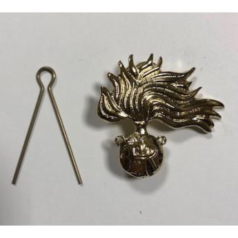 Fregio da Basco dorato dei Carabinieri per ufficiali