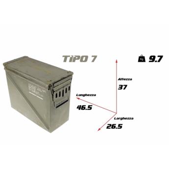 Cassetta porta munizioni Militare Americano TIPO 7