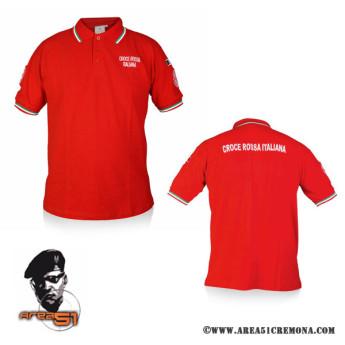 Polo  Croce Rossa Italiana manica corta