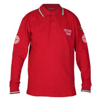 Polo  Croce Rossa Italiana manica lunga