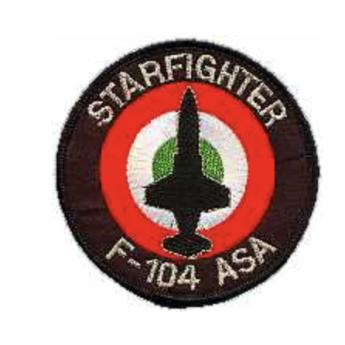 Patch toppa Aeronautica Militare caccia F 104 ASA