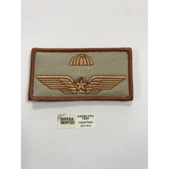 Brevetto militare ricamato paracadutisti desertico originale