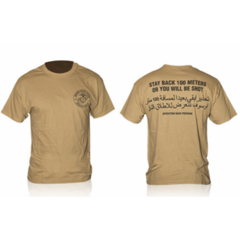 T-SHIRT MILITARE MARINES CORPS  CON FRASE COLOR DESERT