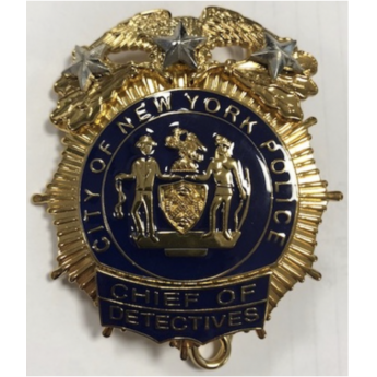 BADGE INSIGNA PLACCA POLIZIA DI NEW YORK NYPD DA CAMICIA MADE IN USA AMERICANA