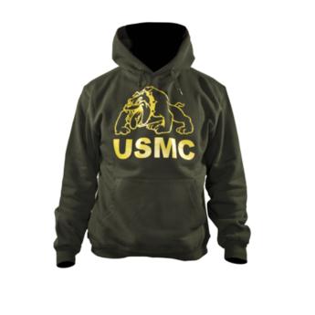 Felpa con Cappuccio USMC Marines Corp Buldog