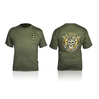 T-SHIRT MILITARE US ARMY CON TESCHIO SKULL