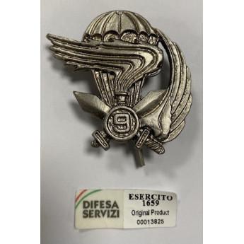 Fregio Militare basco dei Paracadutisti  9° REGG COL  MOSCHIN