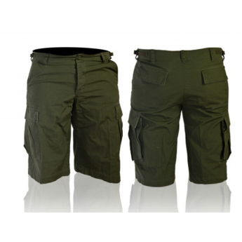 Pantalone corto bermuda tipo militare americano bdu verde