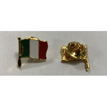 Spilla pins  bandiera italiana in metallo da giacca