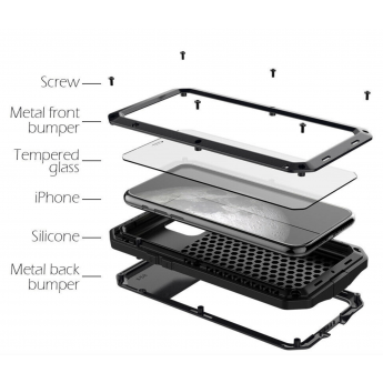 Cover-case Militare Anti caduta impermeabile iPhone 12 pro max