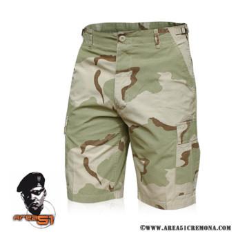 Pantalone corto bermuda militare americano bdu  desert 3 colori