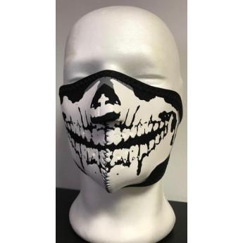 Fascia teschio per  protezione viso in neoprene per softair-moto