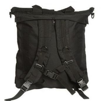 Borsa porta casco elmetto militare zainabile colore nera